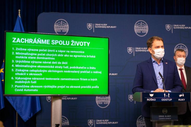 Lockdown sa spojí s deväťdňovým celoslovenským nepovinnýmtestovaním
