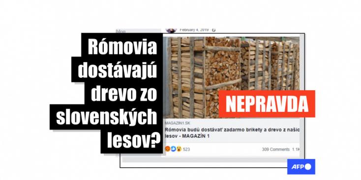 Hoax: Nie, Rómovia nemali dostávať drevo od Vojenských lesov a majetkov SR