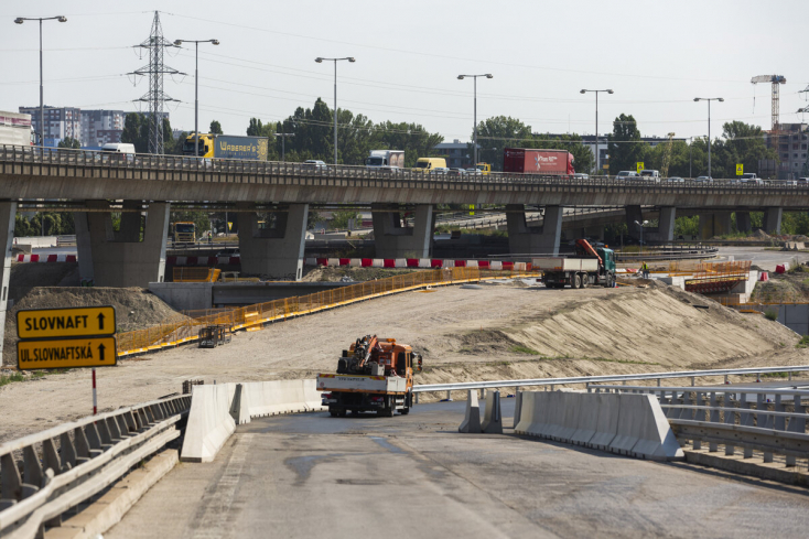 Bratislava: Pre výstavbu D4 a R7 uzavrú nájazd od Bajkalskej k Prístavnému mostu