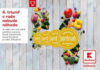 Kaufland získal prestížne ocenenie Slovak Superbrands 2018